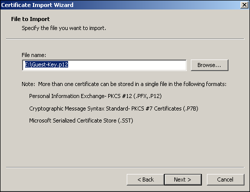 Install Certificate In The Trusted Root Certification Authorities Store Xp